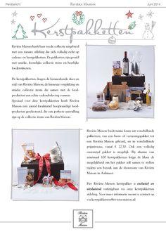 Riviera Maison persbericht kerstpakketten!