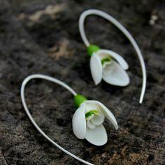 Snowdrops silver925 handmade earrings - Christmas gift for her