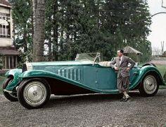 Jean Bugatti with the Bugatti Royale 'Esders' Roadster, 1932.
