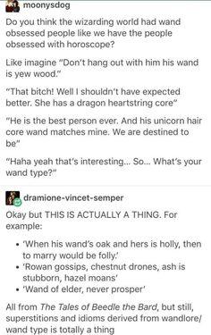 Harry Potter wand discrimination