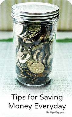Tips for Saving Money Everyday http://thriftywifey.com/smart-shopping/frugal-living/tips-for-saving-money-everyday/