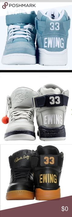 online retailer 2190e afeef Shop Men s EWING Blue Tan size 10 Sneakers at a discounted price at  Poshmark. Description  EWINGS 🏀 BASKETBALL High Top Sneakers Brand New In  The Original ...