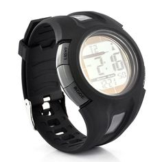 Solar Sport Watch - Automatic Time Adjustment, Stop Watch, Solar Rechargeable, Waterproof