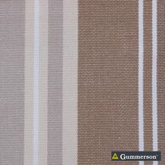 Gummerson - French-Stripe Earth Uncoated 150cm   Ideal Drape Makers