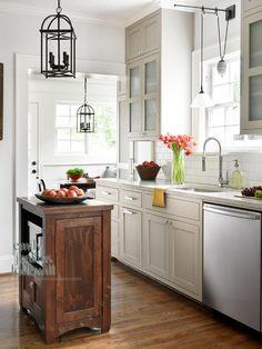 cabinets,subway tile, wood floor