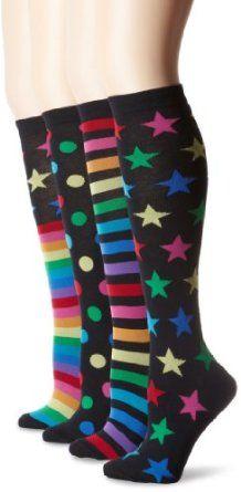 K. Bell Socks Women's Mix It Up Knee High 4 Pack Sock, Multi, 9-11 K. Bell. $17.00