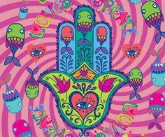 Hamsa Rosa - Samsung Galaxy S2 I9100 Hamsa Hand Tattoo, Hamsa Art, Paz Hippie, Hippie Art, Hand Kunst, Hand Der Fatima, Yoga Art, Jewish Art, Hindu Art
