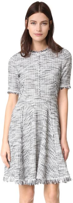 Rebecca Taylor Boucle Tweed Dress