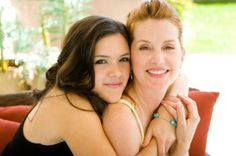 mother-and-teen-daughter laughing