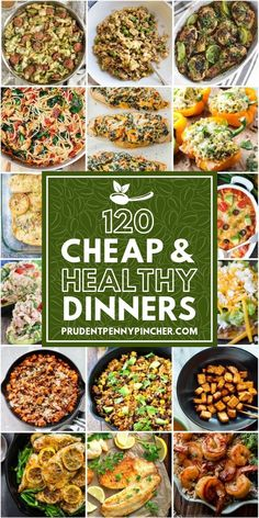 120 Cheap and Healthy Dinner Recipes This is the ULTIMATE resource for cheap and healthy dinner recipes that anyone can make without breaking the bank so that you can eat well for less. - 120 Cheap and Healthy Dinner Recipes Cheap Healthy Dinners, Healthy Recipes On A Budget, Cheap Dinners, Easy Delicious Recipes, Healthy Crockpot Recipes, Healthy Meal Prep, Budget Meals, Healthy Dinner Recipes, Eating Healthy