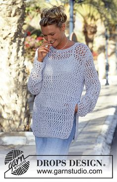 DROPS Lacy Tunic in Passion
