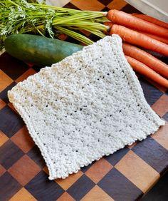 Textured Blocks Dishcloth - free crochet pattern by Cassandra Bibler for Red Heart.