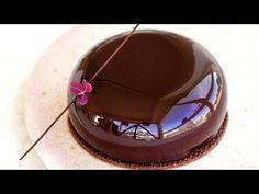 Glazura oglinda de ciocolata - YouTube Mirror Glaze Recipe, Mirror Glaze Cake, Chocolate Mirror Glaze, Sweet Sauce, Chocolate Cake, Mirror Mirror, Cake Recipes, Cake Decorating, Sweet Treats