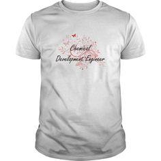 Chemical Development Engineer Artistic Job Design with Butterflies T-Shirts…