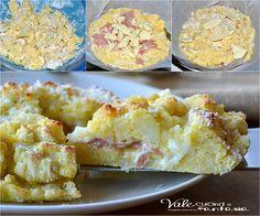 Sbriciolata di patate con mortadella e provola ricetta salata