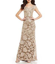 Tadashi Shoji OfftheShoulder Lace Mermaid Gown #Dillards