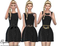EsyraM's Pearl Embellished Dress   Sims 4 Updates -♦- Sims Finds & Sims Must Haves -♦- Free Sims Downloads