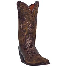 "Dan Post Women's Penny 11"" Bronze Floral Western Cowboy Cowgirl Boots DP3626"