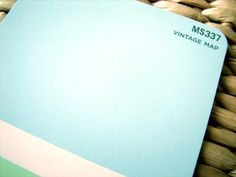 My favorite paint color EVER (but it's discontinued):  Martha Stewart/Valspar Vintage Map.  The perfect aqua, not too blue, not too green, not too loud.  Just beautiful.