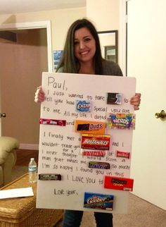 I made a candy card for my boyfriend for our anniversary. Via Facebook: @EvelinaRogers