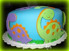 Sweet dinosaur cake