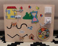 Ocupado a tablero, tablero de la actividad, tablero sensorial, juguete educativo de Montessori, tablero de motricidad fina para niños pequeños y bebés