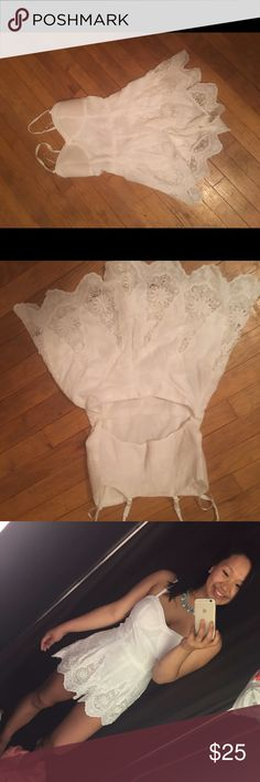White lace romper Bought in Athens Greece! Pull&Bear Dresses