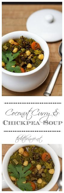 coconut curry and chickpea soup
