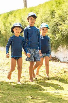 Com as camisas com filtro solar, acompanhe bonés, chapéus e bermudas com proteção uv no tecido. Proteção completa dos raios UV!
