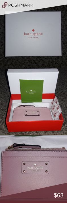 🎀 KATE SPADE WALLET 🎀 NWT Kate Spade Adi Grove Street Leather Zip-Top Coin Holder Card Case Purse. kate spade Bags Wallets