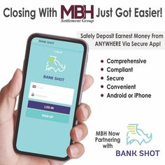 📢 The reviews are in. Agents & buyers LOVE this new mobile deposit app!  Contact Sandra for instructions for either iPhone or Android. Text 540-842-9036 or Email sblake@mbh.com.  Bye bye running 🏃🏽♀️ around to drop of EMDs! 🙂   #ClosingDay #soldandclosed #EMDMobileDeposits #mbhfred #mbhsettlementgroup #lovefxbg #titleinsurance #HomeIsWhereTheHeartIs #ItMattersWhereYouClose #Realtors   mbh.com  Contract? 📧 sblake@mbh.com Closing Day, Title Insurance, New Mobile, Bye Bye, Android, Drop, Running, Iphone, Money