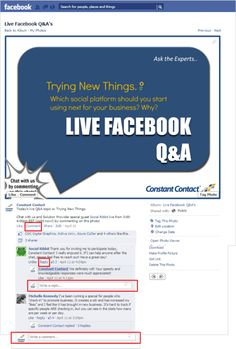 How to Participate in a Facebook Chat... I really think Twitter is the better place for chats though.