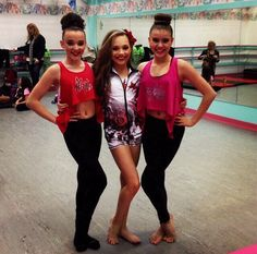 Left to right: Kendall Vertes, Maddie Ziegler and Kalani Hilliker