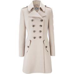 Stone Military Coat ($70) via Polyvore