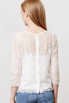 everlytrue:  [Lace Frost Top by Anthropologie]