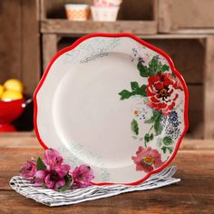 "The Pioneer Woman Timeless Floral 6"" Footed Bowl Set, 4-Pack - Walmart.com"