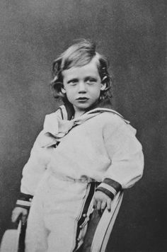 britishroyalty: Prince George of Wales (later King George V), 1869.