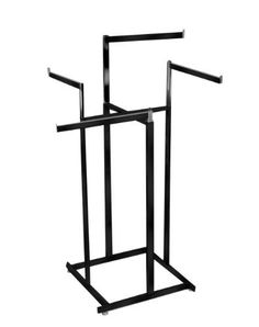 for walk-in closet    ExecuSystems Hi-Capacity 4-Way Rack with Straight Arms - Matte Black Epoxy Coated Steel Rectangular Tubing (View amazon detail page) by OEM, http://www.amazon.com/dp/B002C3WJ8O/ref=cm_sw_r_pi_dp_mw65qb163X1K6