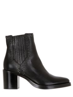 70毫米铆钉皮革及踝靴