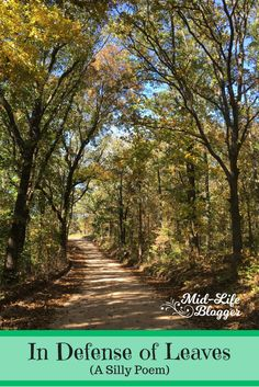 In Defense of Leaves ~ A Silly Poem