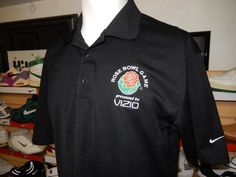 Men's Nike Golf Fit Dry Rose Bowl Game Polo Shirt NCAA Football Vizio Large #NikeGolf #ShirtsTops