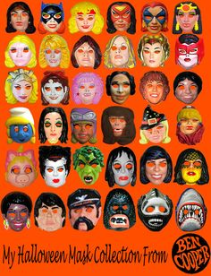 My Halloween Mask Collection From Ben Cooper