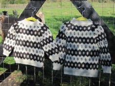 Færøsk strik str 3/4 - 5/6 år - Strikkekits - Garn som hobby Knitting For Kids, Crochet For Kids, Crotchet, Faroe Island, Fur Coat, Hobby, Quilts, Wool, Sewing
