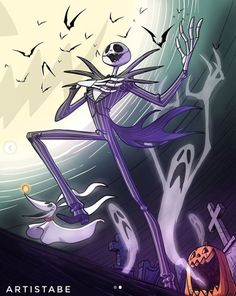 BROTHERTEDD.COM - horrorandhalloween: by ArtistAbe Halloween 2020, Jack Skellington, Tim Burton, Nightmare Before Christmas, Macabre, Funny Memes, In This Moment, Disney, Anime
