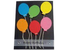 Geburtstagskarte mit bunten Luftballons Karten Diy, Happy Birthday, 3d, Cards, Designs, Bunt, Balloons, Craft Tutorials, Happy Brithday