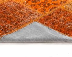 Orange Vintage Overdyed Patchwork Oriental Carpet Available in All ...