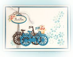 Leane Creatief Lea'bilitie Bicycle With Baskets, uit nieuwsbrief september 2017 Vintage Bicycles, Baskets, September, Clip Art, Bike, Frame, Cards, Inspiration, Decor