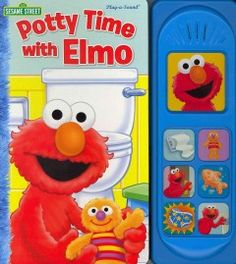 JJ BOARD KAU. Potty Time with Elmo Little Sound Book features five spreads of fullbleed art and a module with seven sound buttons. Elmo can use the potty! Now Baby David has to go potty, too. Read along as Elmo helps his doll, Baby David, find the potty, flush, and wash his hands. Elmo is a big monster now! The story sounds include Elmo's voice and laugh, a spinning toilet paper roll, and an adorable flushing sound, among others.