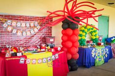 Beyblade Birthday Party Decor!- ballon stand