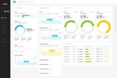 Flat Admin Dashboard Concept #FlatUI #Dashboard